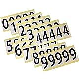 ユポ ナンバーシールステッカー 防水 PP加工 10シート(1シート=33x66mm/片x5片 各数字1シート5片)