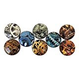 Set of 8 Mechanical Gears Wood Cabinet Knobs
