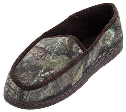Pantofole Mocassino Mens Camouflage Di Mogano Verde-grigio