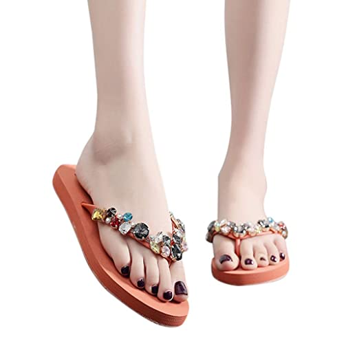 c27dc0269b Dragon868 Pantofole Donna Sandals Eleganti Gioiello Glitter Strass ...