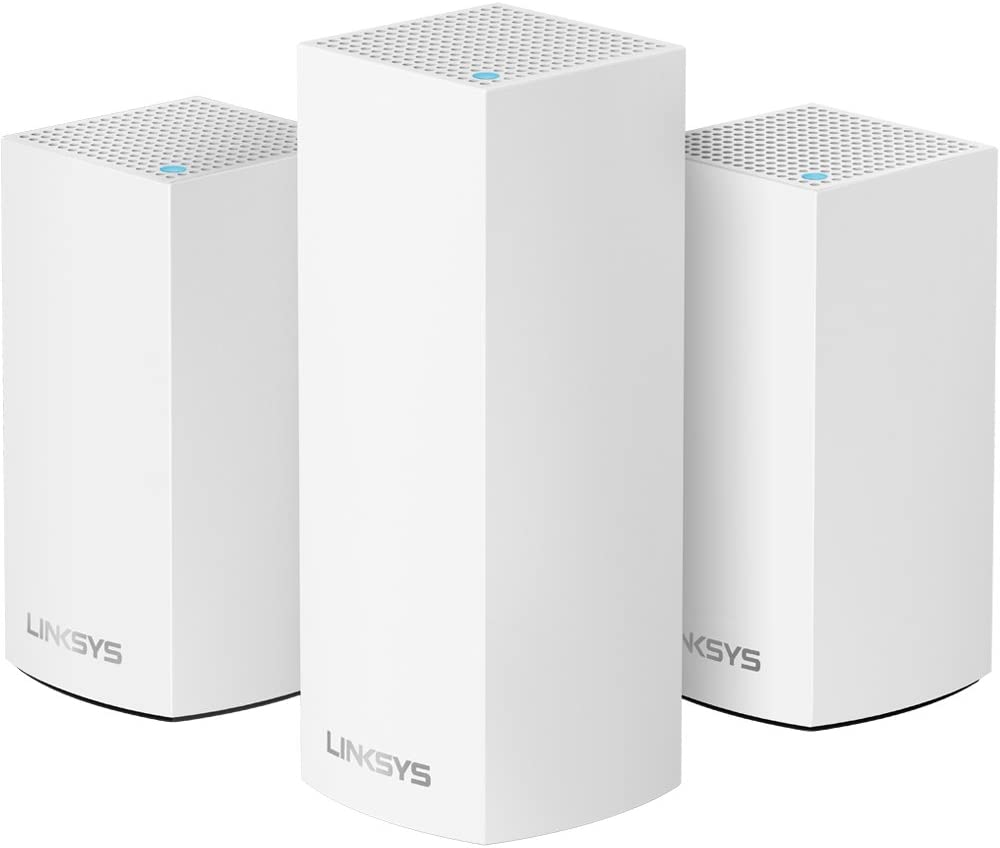 Linksys Velop Home Mesh WiFi System Bundle (Dual/Tri-Band Combo) - WiFi Router/WiFi Extender for Whole-Home Mesh Network (3-pack, White)