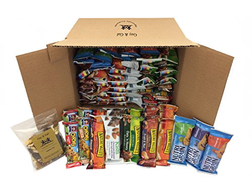 Healthy Bar Snack Mix - Sweet & Salty Granola Bar Bundle - Nature Valley, Kashi, Quaker (72 Bar Bundle) + Bonus Guy & Gal Energy Mix (Sports Care Package)