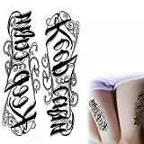 Spiritual gangsta Los Angeles style old English KEEP CALM temporary tattoo water transfer body art fake tattoo waterproof body decals metallic flash body stickers