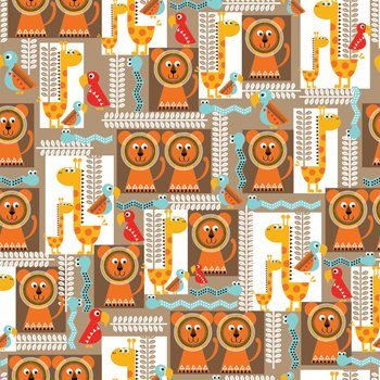 Funky Lion Gift Wrap Roll 24'' X 16' by Premium Gift Wrap
