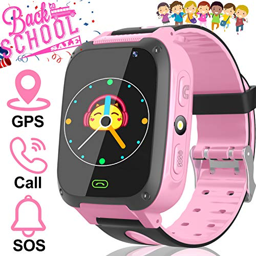 AMENON Kids Smart Watch GPS Tracker - Kid Phone Smartwatch for Boys Girls 3-12 Years Old with Two-Way Call SOS Anti-Lost Games Camera, Child Cellphone Watch School Class Gifts