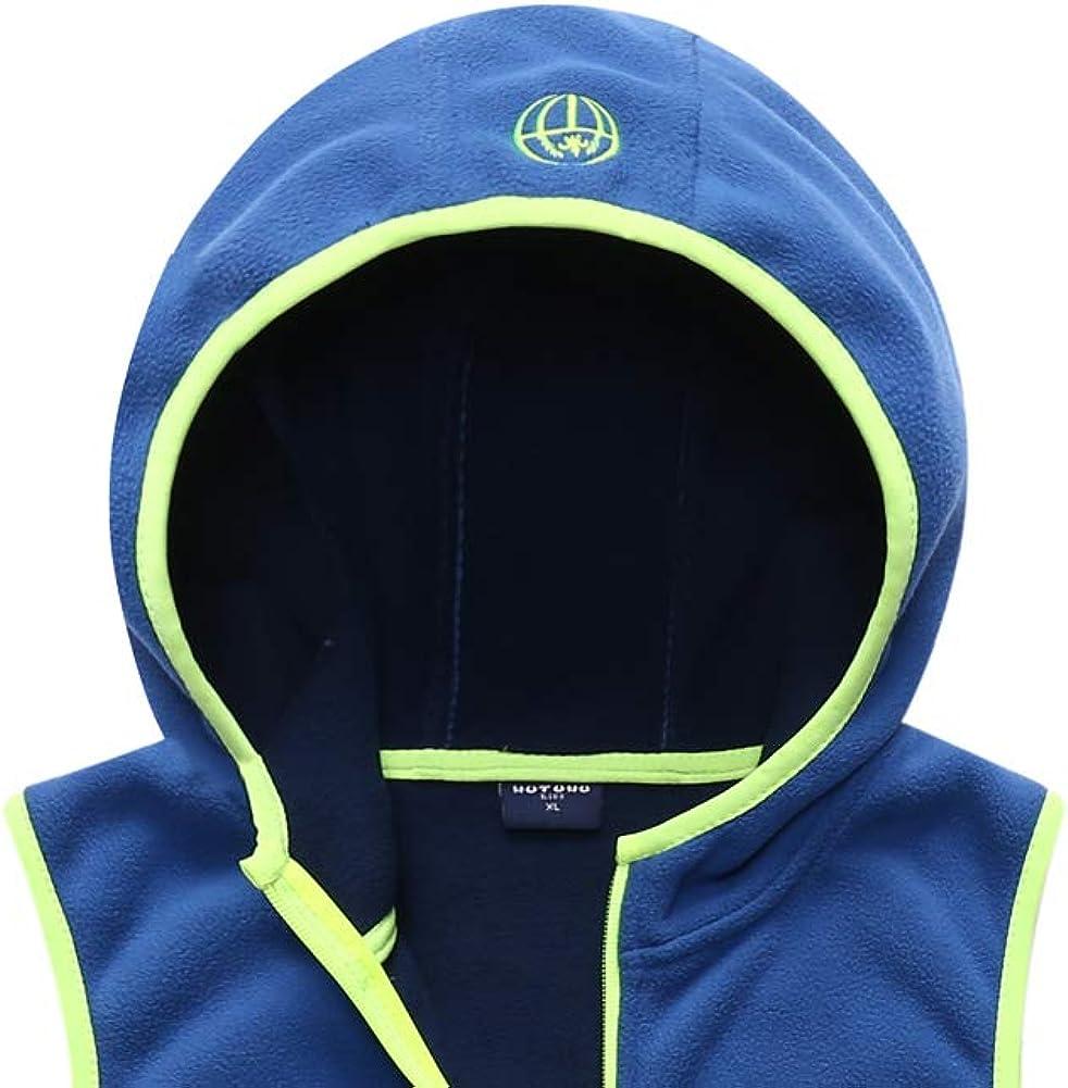 M2C Boys Girls Hooded Full Zip Up Polar Fleece Vest