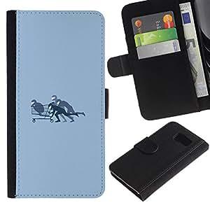 NEECELL GIFT forCITY // Billetera de cuero Caso Cubierta de protección Carcasa / Leather Wallet Case for Samsung Galaxy S6 // Compras Bobby
