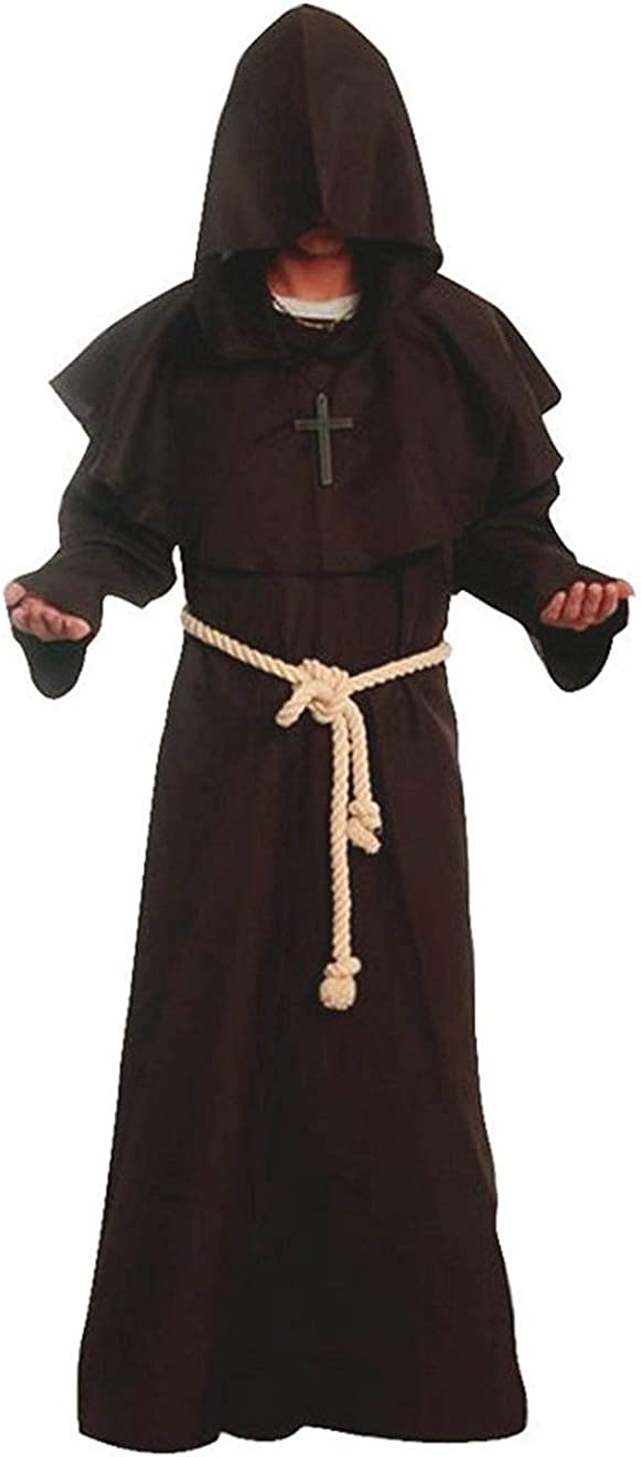 Medieval Renaissance Friar Cowl Robe Hooded Monk Robe Costume