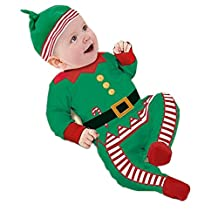 Yollmart Kids Santa Costume Baby Christmas Jumpsuit Climbing Clothes Rompers