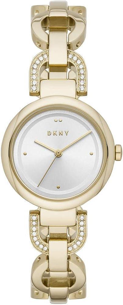 DKNY Eastside- Reloj de Cuarzo para Mujer con Correa Dorada - NY2850