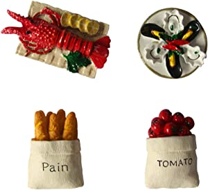 Refrigerator Magnets (Red1) Mini Cute Seafood Series Fridge Magnet Blend Style