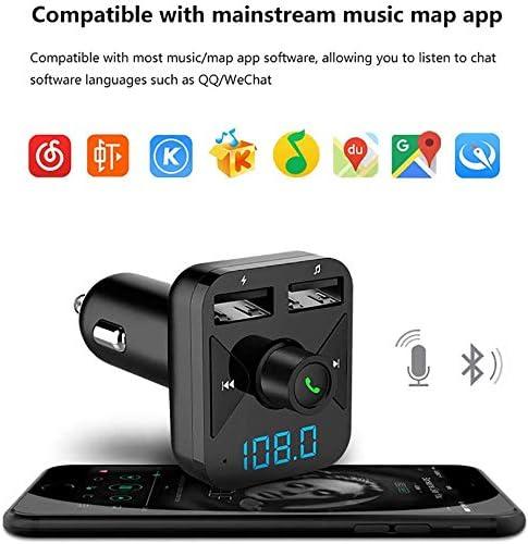IG Bluetooth Transmetteur FM pour voiture voiture lecteur Mp3 double ports USB de charge//T/él/éphonie mains libres//U Carte disque-Tf mp3 lecteur de musique avec Led m/émoire /écran Fonction