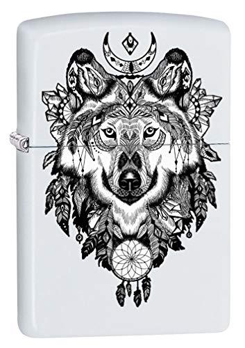Zippo Lighter Aztec White Matte product image