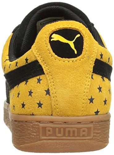 Puma Suede estrellas de la moda zapatillas de deporte Black/Gold Fusion