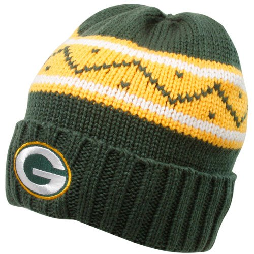 - Reebok Green Bay Packers Cuffed Knit Hat One Size Fits All