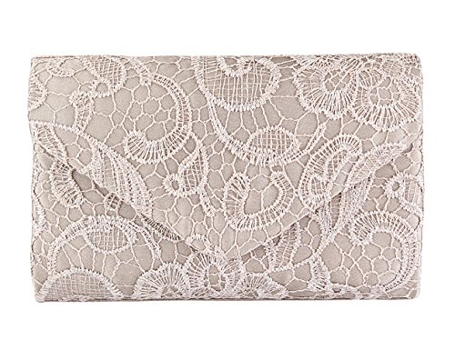 And For Apricot Envelope Clutch Lace Handbags Wedding Purses Evening Womens Clutch Floral Party wq17fvBH