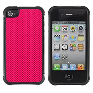 Suave TPU Caso Carcasa de Caucho Funda para Apple Iphone 4 / 4S / Purple Black Polka Dot Punk / STRONG
