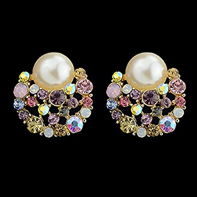 finest selection d5c8d d659f Small Earrings with Coloured Pelre Groü Edelstien White for ...
