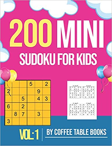 Mini Sudoku For Kids 6x6: 200 sudoku puzzle books for kids 8-12 large print with solution Great Gift for Kids.