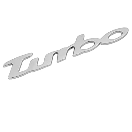 Pilot LA_07202 Turbo - Emblema adhesivo decorativo en relieve, color plateado