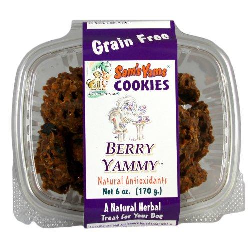Sam's Yams Cookies Sweet Potato Dog Treats, Berry Yammy, 6-Ounce, My Pet Supplies