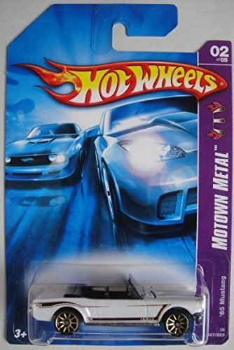 HOT WHEELS MOTOWN METAL WHITE '65 MUSTANG 2/5