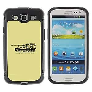 Suave TPU GEL Carcasa Funda Silicona Blando Estuche Caso de protección (para) Samsung Galaxy S3 III I9300 / CECELL Phone case / / Panzerjager Tiger German Tank /