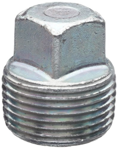 Anvil 2122 Forged Steel High Pressure Pipe Fitting, Class 6000, Square Head Plug, 1/2