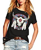 Romastory Women's Street Style Printed T-Shirts Short Sleeve Loose Tops Tee Shirt