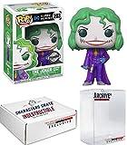 Funko Pop! DC Heroes Martha Wayne The Joker, Flashpoint Exclusive Vinyl Figure, Concierge Collectors Bundle