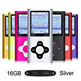 G.G.Martinsen Plum Button 1.78 LCD Screen MP3/MP4 16 GB Portable MP3Player , MP4 Player , Video Player , Music Player , Media Player , Audio Player ,Music Movie Video Player Recorder-Silver