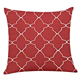 Whats the Difference Between King and California King Mattress iYBUIA Modern Design Home Decor Cushion Cover Red Geometric Throw Pillowcase Pillow Covers