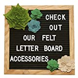 Felt Letter Board Accessories (Large) - Letter Board Succulent Decorations Perfect for Baby Photo Props and Party Decor Works with All Changeable Message and Letterboards! (Accessory Kit Only!)