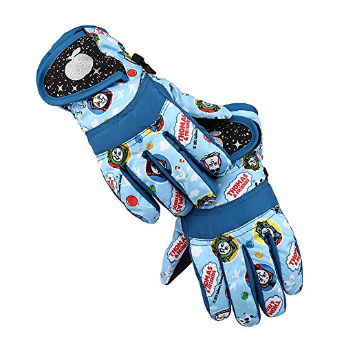 COFFLED Toddler Ski Insulated Waterproof &Windproof Gloves, Snowboard Thinsulate Snow Gloves for Cold Winter