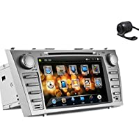 Christmas Sale!!! Transmitter Pupug In Dash Silver Multi-Media Car DVD Player GPS Navigation Vehicle Motors Radio Stereo for Toyota Camry Bluetooth PC PC Camera Music Vehicle RDS vw Touch Scre