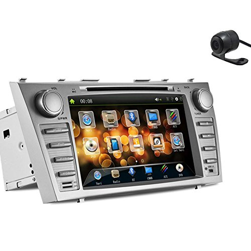 Toyota Hybrid Vehicle (Christmas Sale!!! Transmitter Pupug In Dash Silver Multi-Media Car DVD Player GPS Navigation Vehicle Motors Radio Stereo for Toyota Camry Bluetooth PC PC Camera Music Vehicle RDS vw Touch Scre)