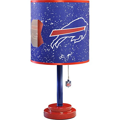 MISC NFL Buffalo Bills Table Lamp Large, 18 Inch Desk Lamp with Shade Sports Pattern Cute Football Themed Nightstand Lamp Team Logo for Fan Team Spirit Blue, MDF Plastic ()