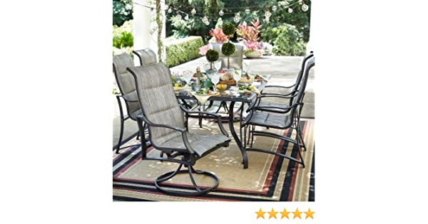 3b33a572309 Amazon.com  Statesville 7-Piece Padded Sling Patio Dining Set  Home  Improvement