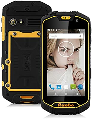 Runbo Q5 4.5 de 4 G LTE Smartphone Android 5.1 IP67 resistente al ...