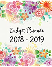 Budget Planner 2018 - 2019: Daily Weekly & Monthly 2018 - 2019 Calendar Expense Tracker Organizer,Budget Planner and Financial Planner Workbook ( Bill Tracker,Expense Tracker,Home Budget book / Extra Large ) | Happy Flowers Cover
