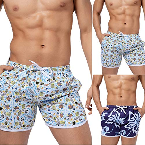 9d5cade18c859 Simayixx Men Bathing Suits Mens Summer Cool Quick Dry Board Shorts Swim  Trunks with Side Pockets Mesh Lining Short Pants   Amazon.com