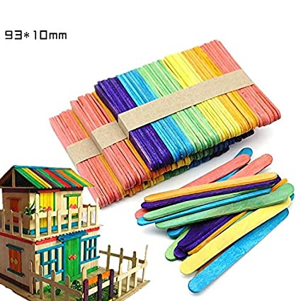 SMALL-CHIPINC - 50Pcs Wood Popsicle Ice Cream Stick Spoon