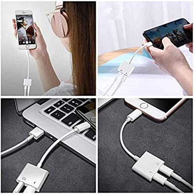 Headphone Adaptor for iPhone Besmon Converter Adapter Charger Adapter Cable with 3.5mm Dongle Earphone Aux Audio /& Charge Compatible for iPhoneXR//XS//XS MAX//X//7//7P//8//8P White