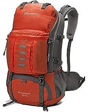 Mardingtop 25L/30L/45L/50L Rucksack Wanderrucksack für Camping/Klettern/Reisen/Schultasche/Fahrrad, mit eine Regenschutz (Jujube, 30 Liter)