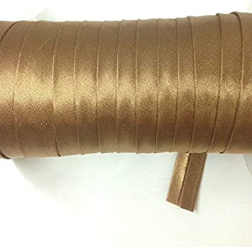 Copper Brown 12 Yards 5//8 inch Single Fold Satin Bias Tape 23 Different Colors