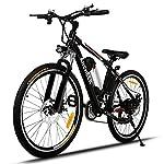ANCHEER Bicicletta Elettrica Pieghevole Bici da Montagna Ebike con Batteria al Litio da 26 Pollici Grande capacità 36V 250W 21 velocità Sospensione Completa Premium e Cambio Shimano (Nero)