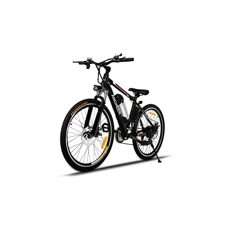 ANCHEER Power Plus Electric Mountain Bike with Removable Lithium Ion Battery, Battery Charger