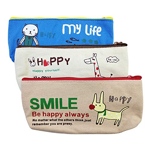 rge Capacity Cute Students Pen Pouch Work Office Craft Supplies Pouch Storage Bag, for School Office Stationery ()