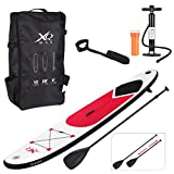 Guaranteed4Less XQMax Sports Paddle Surf Board Inflatable Stand Up SUP Bag Pump Oar Water Racing (Red)