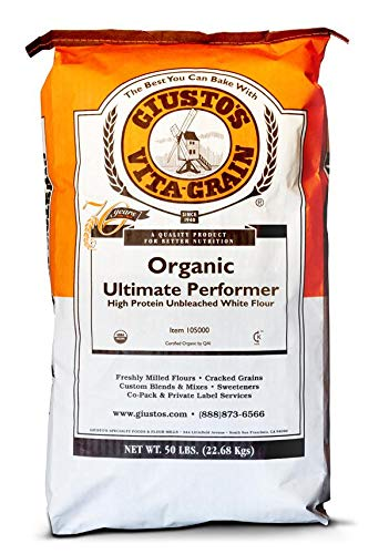 Giusto's Unbleached Ultimate Performer White Flour Organic - 50 LB Bulk